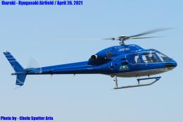 Chofu Spotter Ariaさんが、龍ケ崎飛行場で撮影したエクセル航空 AS355N Ecureuil 2の航空フォト(飛行機 写真・画像)