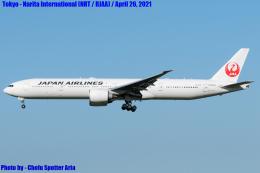 Chofu Spotter Ariaさんが、成田国際空港で撮影した日本航空 777-346/ERの航空フォト(飛行機 写真・画像)