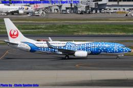 Chofu Spotter Ariaさんが、羽田空港で撮影した日本トランスオーシャン航空 737-8Q3の航空フォト(飛行機 写真・画像)