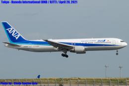 Chofu Spotter Ariaさんが、羽田空港で撮影した全日空 767-381/ERの航空フォト(飛行機 写真・画像)