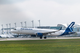 gomaさんが、ミュンヘン・フランツヨーゼフシュトラウス空港で撮影したエーゲ航空 A321-271NXの航空フォト(飛行機 写真・画像)