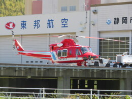 ランチパッドさんが、静岡ヘリポートで撮影した静岡市消防航空隊 412EPの航空フォト(飛行機 写真・画像)