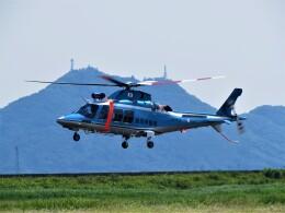 F.YUKIHIDEさんが、岡南飛行場で撮影した鳥取県警察 AW109SPの航空フォト(飛行機 写真・画像)