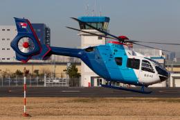(新)ふぁんとむ改さんが、東京ヘリポートで撮影した中日新聞社 EC135P2の航空フォト(飛行機 写真・画像)