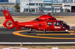 (新)ふぁんとむ改さんが、東京ヘリポートで撮影した東京消防庁航空隊 AS365N3 Dauphin 2の航空フォト(飛行機 写真・画像)
