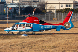 (新)ふぁんとむ改さんが、東京ヘリポートで撮影した川崎市消防航空隊 AS365N3 Dauphin 2の航空フォト(飛行機 写真・画像)
