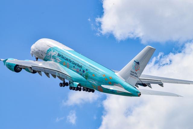 gomaさんが、ファンボロー空港で撮影したハイ・フライ・マルタ A380-841の航空フォト(飛行機 写真・画像)