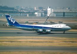 プルシアンブルーさんが、羽田空港で撮影した全日空 747SR-81の航空フォト(飛行機 写真・画像)