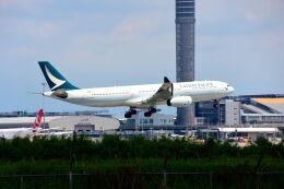 まいけるさんが、スワンナプーム国際空港で撮影したキャセイパシフィック航空 A330-343Xの航空フォト(飛行機 写真・画像)