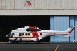 チャーリーマイクさんが、東京ヘリポートで撮影した朝日航洋 AS332L1 Super Pumaの航空フォト(飛行機 写真・画像)