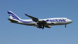 Nobu-oji_NEXUS6さんが、成田国際空港で撮影したナショナル・エアラインズ 747-412(BCF)の航空フォト(飛行機 写真・画像)