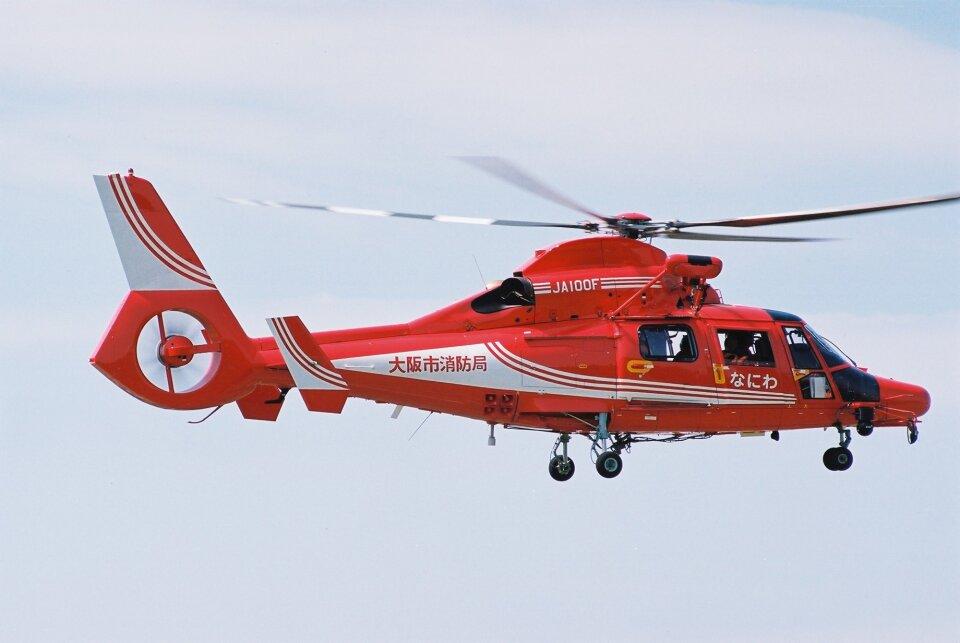 ゴンタさんの大阪市消防航空隊 Eurocopter AS365/565 Dauphin 2/Panther (JA100F) 航空フォト