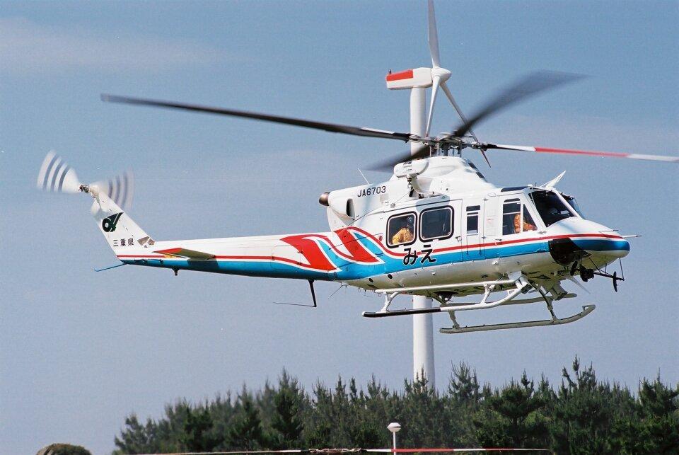 ゴンタさんの三重県防災航空隊 Bell 412 (JA6703) 航空フォト
