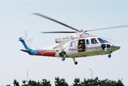 ゴンタさんが、愛知県知多市新舞子で撮影した山梨県消防防災航空隊 S-76Bの航空フォト(飛行機 写真・画像)