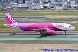 れんしさんが、福岡空港で撮影したピーチ A320-214の航空フォト(飛行機 写真・画像)