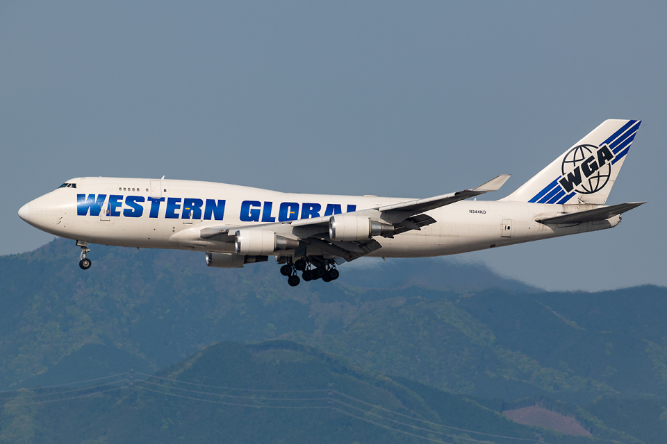 Tomo-Papaさんのウエスタン・グローバル・エアラインズ Boeing 747-400 (N344KD) 航空フォト