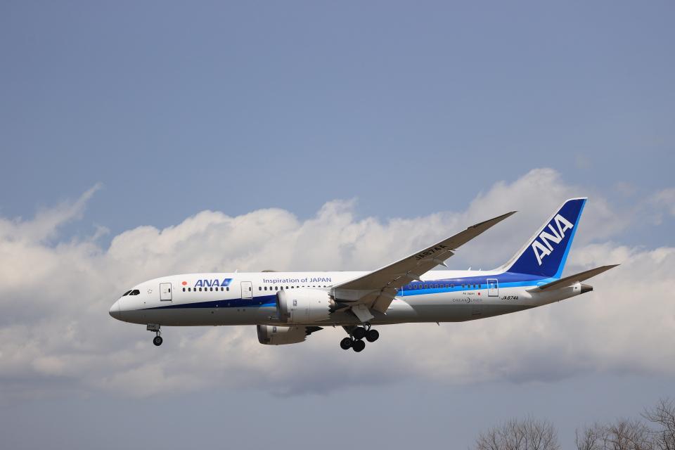 Tomochanさんの全日空 Boeing 787-8 Dreamliner (JA874A) 航空フォト