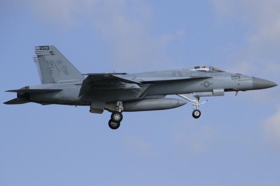 ちゅういちさんのアメリカ海軍 Boeing F/A-18 (168365) 航空フォト
