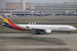 ちゅういちさんが、羽田空港で撮影したアシアナ航空 A330-323Xの航空フォト(飛行機 写真・画像)