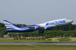 kuraykiさんが、成田国際空港で撮影したナショナル・エアラインズ 747-428(BCF)の航空フォト(飛行機 写真・画像)