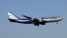 Nobu-oji_NEXUS6さんが、成田国際空港で撮影したナショナル・エアラインズ 747-428(BCF)の航空フォト(飛行機 写真・画像)