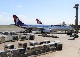 不揃いさんが、ダニエル・K・イノウエ国際空港で撮影したハワイアン航空 A330-243の航空フォト(飛行機 写真・画像)