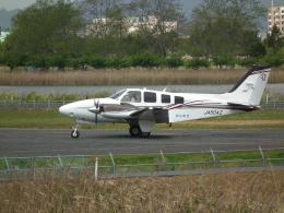 ヒコーキグモさんが、岡南飛行場で撮影した岡山航空 G58 Baronの航空フォト(飛行機 写真・画像)