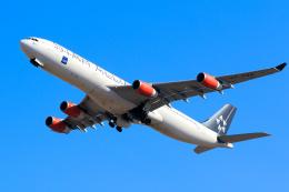 inyoさんが、成田国際空港で撮影したスカンジナビア航空 A340-313Xの航空フォト(飛行機 写真・画像)