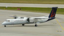 singapore346さんが、シュトゥットガルト空港で撮影したブリュッセル航空 DHC-8-402Q Dash 8の航空フォト(飛行機 写真・画像)
