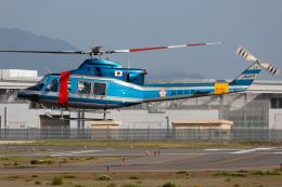 (新)ふぁんとむ改さんが、奈多ヘリポートで撮影した福岡県警察 412EPの航空フォト(飛行機 写真・画像)