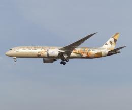 トタさんが、成田国際空港で撮影したエティハド航空 787-9の航空フォト(飛行機 写真・画像)