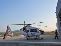 yutopさんが、米子空港で撮影した学校法人ヒラタ学園 航空事業本部 EC135P3の航空フォト(飛行機 写真・画像)
