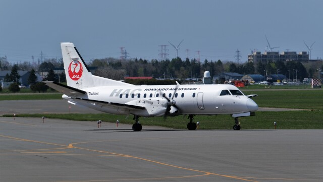 hidetsuguさんが、札幌飛行場で撮影した北海道エアシステム 340B/Plusの航空フォト(飛行機 写真・画像)