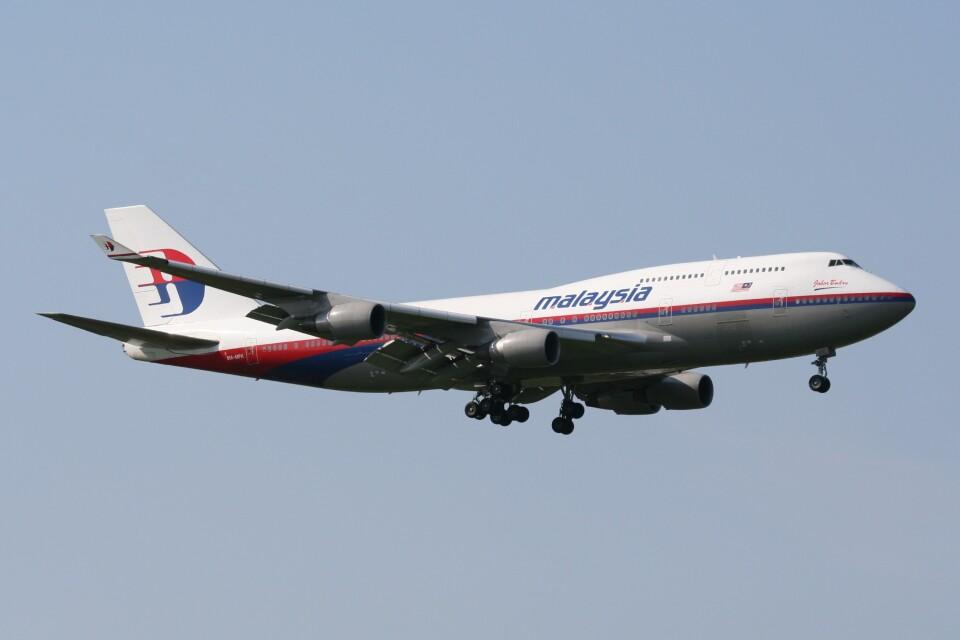 NIKEさんのマレーシア航空 Boeing 747-400 (9M-MPK) 航空フォト