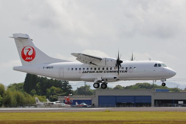 りく✈︎✈︎✈︎さんが、鹿児島空港で撮影した日本エアコミューター ATR-42-600の航空フォト(飛行機 写真・画像)