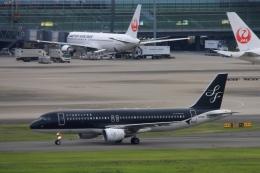 Hiro-hiroさんが、羽田空港で撮影したスターフライヤー A320-214の航空フォト(飛行機 写真・画像)