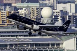 K.Sさんが、福岡空港で撮影したスターフライヤー A320-214の航空フォト(飛行機 写真・画像)
