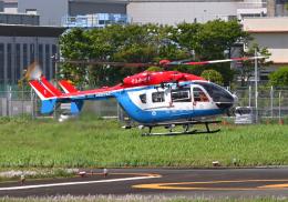 雲霧さんが、東京ヘリポートで撮影した川崎市消防航空隊 BK117C-2の航空フォト(飛行機 写真・画像)
