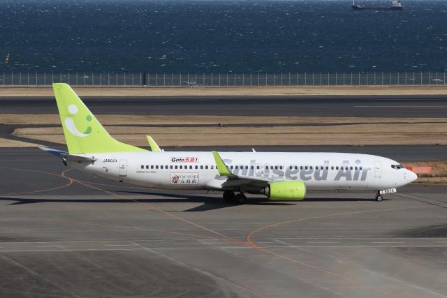 磐城さんが、羽田空港で撮影したソラシド エア 737-81Dの航空フォト(飛行機 写真・画像)
