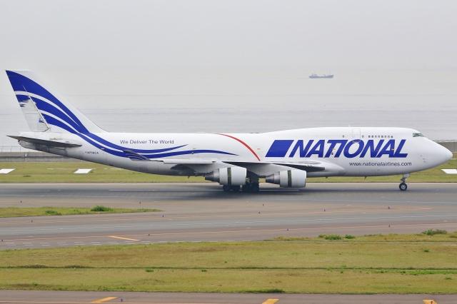 Wings Flapさんが、中部国際空港で撮影したナショナル・エアラインズ 747-412(BCF)の航空フォト(飛行機 写真・画像)