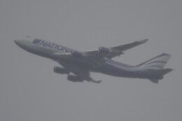 JUTENさんが、中部国際空港で撮影したナショナル・エアラインズ 747-428(BCF)の航空フォト(飛行機 写真・画像)