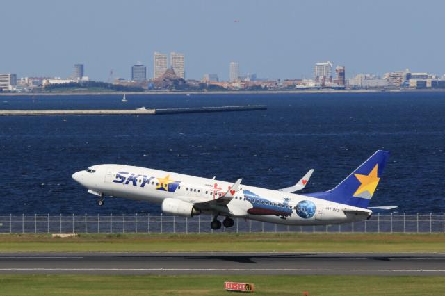 inyoさんが、羽田空港で撮影したスカイマーク 737-86Nの航空フォト(飛行機 写真・画像)