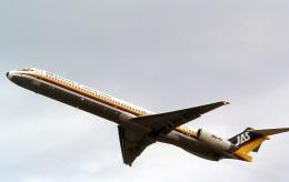 LEVEL789さんが、岡山空港で撮影した日本エアシステム MD-81 (DC-9-81)の航空フォト(飛行機 写真・画像)