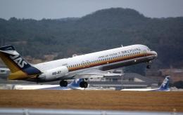 LEVEL789さんが、岡山空港で撮影した日本エアシステム MD-87 (DC-9-87)の航空フォト(飛行機 写真・画像)