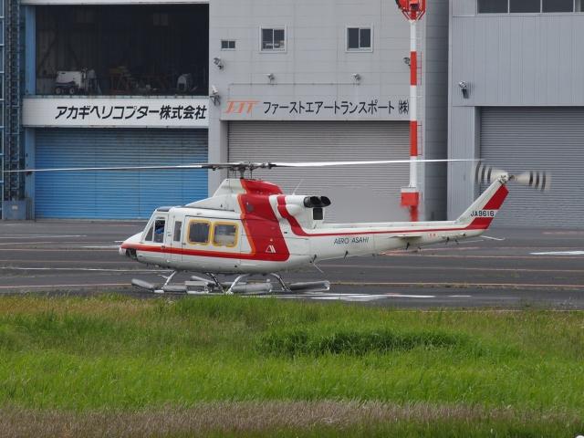 FT51ANさんが、東京ヘリポートで撮影した朝日航洋 412の航空フォト(飛行機 写真・画像)