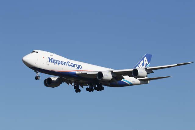 プルシアンブルーさんが、成田国際空港で撮影した日本貨物航空 747-8KZF/SCDの航空フォト(飛行機 写真・画像)