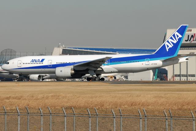 jun☆さんが、成田国際空港で撮影した全日空 777-281の航空フォト(飛行機 写真・画像)