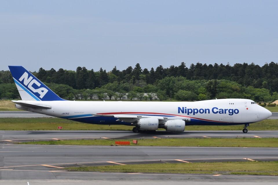 PIRORINGさんの日本貨物航空 Boeing 747-8 (JA17KZ) 航空フォト