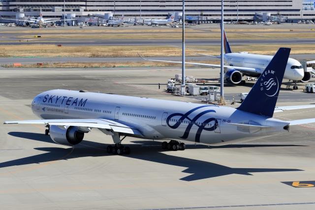 anyongさんが、羽田空港で撮影したガルーダ・インドネシア航空 777-3U3/ERの航空フォト(飛行機 写真・画像)