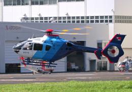 雲霧さんが、東京ヘリポートで撮影した中日新聞社 EC135P2の航空フォト(飛行機 写真・画像)